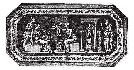 Wedgwood cameo vintage engraving