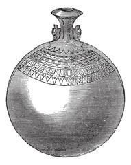 Egyptian aryballos vintage engraving