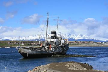 Old steamship (Ushuaia, Argentina)