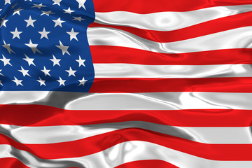 USA flag 3d render illustration
