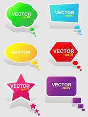 Colorful speech bubbles.