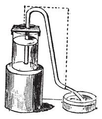 Siphon or syphon vintage engraving