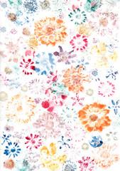 Blumen Hintergrund gemalt