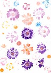 Aquarell Blumen Hintergrund gemalt