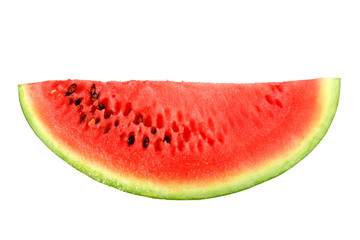 Only red slice of ripe watermelon