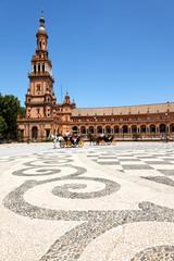 Nordturm am Plaza de Espana, Sevilla, Spanien