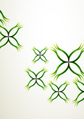 Vector abstract grass curves