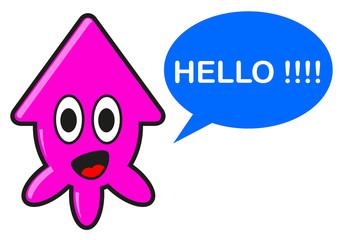illustration of cartoon squid