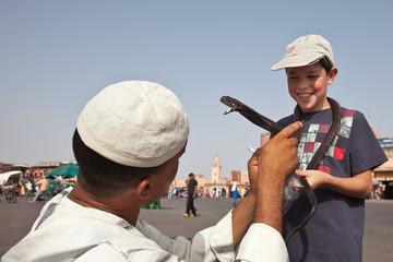 Charmeur de serpent à Marrakech