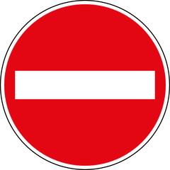 Fototapete - Verbotsschild Einfahren verboten - Keine Einfahrt Schild