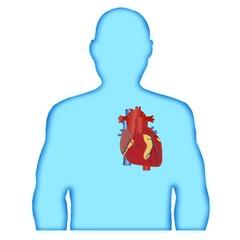 Silhouette man heart