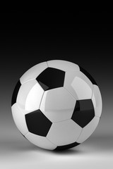 Studio shot of soccer ball