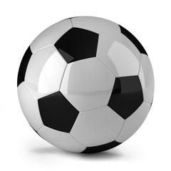 Soccer ball over white background