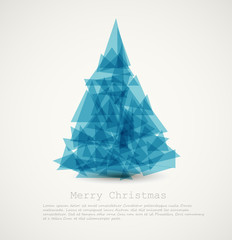 Vector blue modern abstract christmas tree