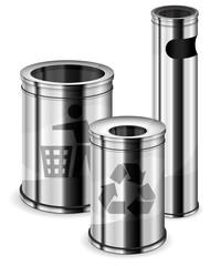 Trash bins & recycle signs