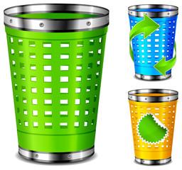 Plastic trash basket
