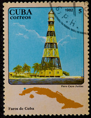 Postal stamp. Lighthouse, 1982