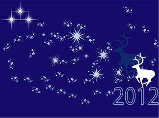 illustration welcome New Year night sky