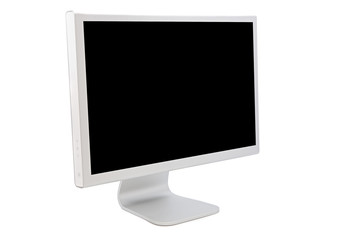 Computer monitor with a black image
