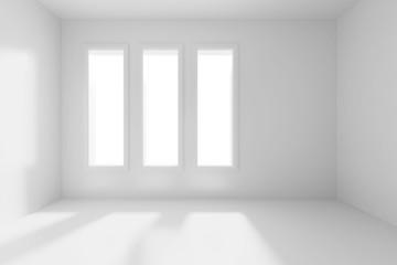3d render of an empty room