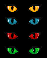 Set of evil eyes