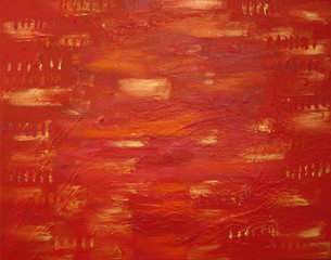 abstract painting - red river