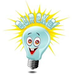 Lampadina Idea Eureka-Idea Solution Light Bulb-Vector