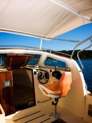 Modern boat cockpit