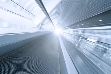 advanced business way, blue diminishing escalator
