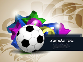 abstract colorfull football background