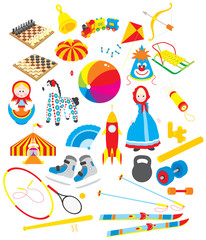 Toys and sporting accessories