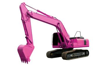 Pink excavator