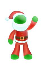 Santa green 2