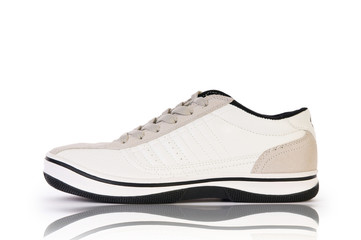Sport shoes on white background