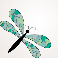 Background with large dragonfly for text