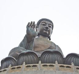 The Big Buddha in Hong Kong Lantau Island