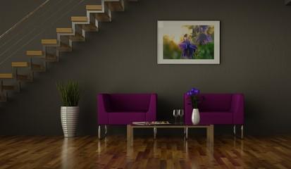 Wohndesign - lila Sesel