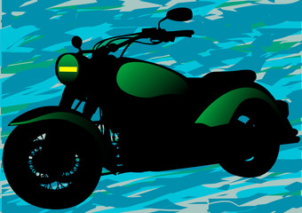 Keuken foto achterwand Motorfiets Military motorcycle