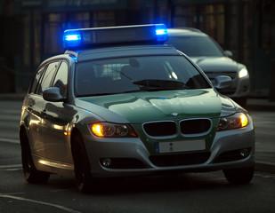 Fototapete - Polizeiauto