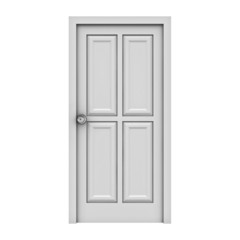 White door isolated on white background