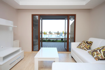 Studio home and its swimming pool view