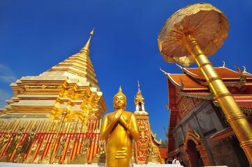 beautiful thai temple and buddha image
