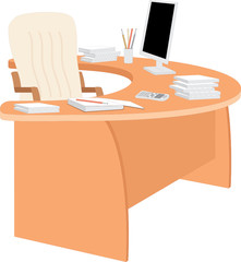 Office table. vector