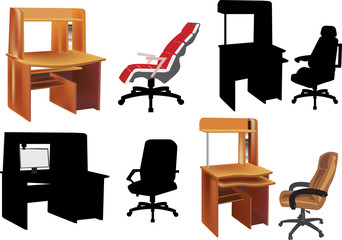 office furniture isolated on white