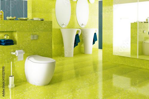 Badezimmer In Gelb