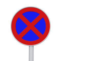 No stopping and parking sign