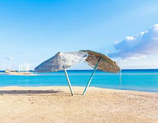 Umbrellas Wallpaper Beach