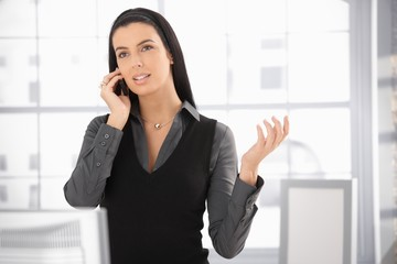 Woman on office call