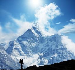 Wall Mural - Hike in Himalaya