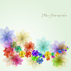 flower vector background illustration